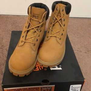 Woman's timberland steel toe boots
